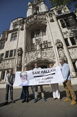 Justice for Sam Hallam appeal for compensation for miscarriage of justice at the Supreme Court, London. Sam Hallam served seven years for a murder he did not commit - Jess Hurd - 08-05-2018