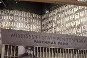 Jackson, Mississippi, USA: The Mississippi Civil Rights Museum. Identity photographs of Freedom Riders arrested in 1961 in Jackson for trying to racially integrate the interstate bus transport. The mu... - Jim West - African Americans,2010s,2018,ACE,activist,activists,African American,against,America,american,americans,Anti Racism,anti racist,BAME,BAMEs,bigotry,black,BME,bmes,bus,bus service,BUSES,campaigner,campa