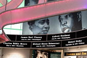 Jackson, Mississippi, USA: The Mississippi Civil Rights Museum. The names of civil rights martyrs encircle the rotunda. Included are James Chaney, Andrew Goodman, and Michael Schwerner, civil rights w... - Jim West - African Americans,2010s,2018,ACE,activist,activists,African American,against,America,american,americans,Andrew Goodman,Anti Racism,anti racist,BAME,BAMEs,bigotry,black,BME,bmes,campaigner,campaigners,