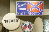 Jackson, Mississippi, USA: The Mississippi Civil Rights Museum. Memorabilia of the White Citizens Councils which were devoted to maintaining segretation and white supremacy; prominent political and ci... - Jim West - 2010s,2018,ACE,African American,America,american,americans,badge,badges,bigotry,black,Citizen,Citizens Council,Citizenship,civil rights,civil rights movement,civil rights museum,Confederate,Culture,di