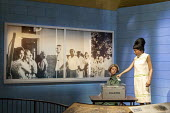 Jackson, Mississippi, USA: The Museum of Mississippi History. A voting rights display showing an African American casting a ballot as a white poll worker watches. Most African Americans in Mississippi... - Jim West - 2010s,2018,ACE,African,African American,African Americans,America,American,americans,Arts,ballot,Ballot Box,Ballot Box boxes,ballot paper,ballot papers,BALLOTING,ballots,BAME,BAMEs,black,BME,bmes,boot