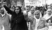 Black, white and Asian mourners, funeral cortege for Blair Peach, Southall, London 1979 - John Sturrock - 1970s,1979,activist,activists,against,age,ageing population,Asian,Asians,BAME,BAMEs,banner,banners,Black,blair peach,BME,bmes,CAMPAIGN,campaigner,campaigners,CAMPAIGNING,CAMPAIGNS,dead,death,DEATHS,DE