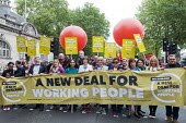 TUC New Deal For Working People demonstration London 2018 - Stefano Cagnoni - 2010s,2018,activist,activists,Austerity Cuts,balloon,balloons,banner,banners,campaign,campaigning,CAMPAIGNS,DEMONSTRATING,demonstration,EARNINGS,FEMALE,London,march,member,member members,members,minim