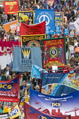 TUC New Deal For Working People demonstration London 2018. PROSPECT, BECTU & PCS members protest - Stefano Cagnoni - 12-05-2018