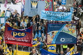 TUC New Deal For Working People demonstration London 2018. PROSPECT, BECTU & PCS members protest - Stefano Cagnoni - 2010s,2018,activist,activists,Austerity Cuts,banner,banners,BECTU,campaign,campaigning,CAMPAIGNS,DEMONSTRATING,demonstration,FDA,London,march,member,member members,members,New Deal For Working People,