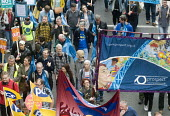 TUC New Deal For Working People demonstration London 2018. PROSPECT members protest - Stefano Cagnoni - 12-05-2018