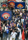 TUC New Deal For Working People demonstration London 2018. FBU members protest - Stefano Cagnoni - 12-05-2018