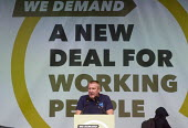 TUC New Deal For Working People demonstration London 2018. TUC Pres and Prospect member Geoff Fletcher speaking, Hyde Park rally - Stefano Cagnoni - 2010s,2018,activist,activists,Austerity Cuts,campaign,campaigning,CAMPAIGNS,DEMONSTRATING,demonstration,Geoff Fletcher,London,march,member,member members,members,New Deal For Working People,PROSPECT,P