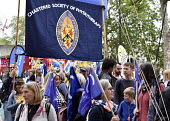 TUC New Deal For Working People demonstration London 2018. CSP trade union members on the demonstration - Stefano Cagnoni - 12-05-2018