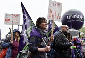 TUC New Deal For Working People demonstration London 2018. UNISON members protest - Stefano Cagnoni - 12-05-2018