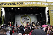 TUC New Deal For Working People demonstration London 2018. Jeremy Corbyn Labour Party speaking at the Hyde Park rally - Stefano Cagnoni - 2010s,2018,activist,activists,Austerity Cuts,campaign,campaigning,CAMPAIGNS,DEMONSTRATING,demonstration,Jeremy Corbyn,London,march,member,member members,members,New Deal For Working People,Party,POL,p