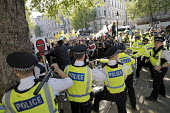 Kurdish activists protest against Theresa May welcoming Tayyip Erdogan, who they accuse of being a war criminal, to Downing Street, Whitehall, London - Jess Hurd - 15-05-2018