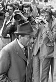Jeremy Thorpe arriving at the Old Bailey for trial on charges of conspiracy to murder Norman Scott, London 1979 - Martin Mayer - 18-05-1979