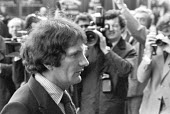 Norman Scott arriving at the Old Bailey for the trail of Jeremy Thorpe and three others on charges of conspiracy to murder him, an alleged former lover, London 1979 - Martin Mayer - 18-05-1979