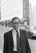David Holmes accused with Jeremy Thorpe and two others of conspiracy to murder Norman Scott arriving at The Old Bailey, London 1979. He was best man at Thorpe's wedding and an official in the Liberal... - Martin Mayer - 14-05-1979