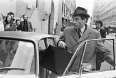 Jeremy Thorpe leaving the Old Bailey during his trial for conspiracy to murder Norman Scott, London 1979 - Martin Mayer - 29-05-1979