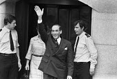 Jeremy Thorpe outside the Old Bailey after being found not guilty of conspiracy to murder Norman Scott, London 1979 - Martin Mayer - 22-06-1979