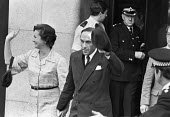 Jeremy Thorpe with his wife walking out of the Old Bailey courts after being found not guilty of conspiracy to murder, London 1979 - Martin Mayer - 22-06-1979