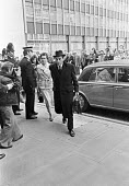 Jeremy Thorpe arriving at the Old Bailey on the first day of his trial for conspiracy to murder, London 1979 - Peter Arkell - 08-05-1979