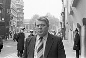John Le Mesurier, one of the 4 accused with Jeremy Thorpe, of conspiracy to murder Norman Scott, arriving at the Old Bailey, London 1979 - Ray Rising - 30-05-1979