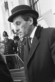 Jeremy Thorpe leaving the Old Bailey during his trial for conspiracy to murder Norman Scott, London 1979 - Ray Rising - 10-05-1979