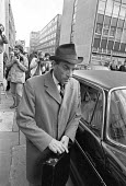 Jeremy Thorpe leaving the Old Bailey during his trial for conspiracy to murder Norman Scott, London 1979 - Ray Rising - 18-05-1979