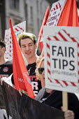 TGI Fridays fair pay and fair tips strike, Covent Garden, London - Jess Hurd - 2010s,2018,campaign,campaigning,CAMPAIGNS,catering,Covent Garden,DISPUTE,DISPUTES,EARNINGS,fair,fair pay,fair tips,Garden,GARDENS,Income,INDUSTRIAL DISPUTE,inequality,living wage,London,low pay,Low In