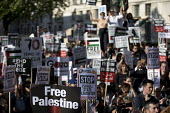 Protest against the Israeli massacre of Palestinians on the Day of Return, Whitehall, London - Jess Hurd - 15-05-2018