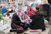 Royalists sleeping rough for a prime position, wedding of Prince Harry and Meghan Markle, Windsor - Jess Hurd - 2010s,2018,2nd,ACE,asleep,bunting,culture,Elizabeth,EXHAUSTION,flag,flags,getting married,LFL,LIFE,marriage,mask,masked,masks,Meghan Markle,Monarchy,PEOPLE,Prince Harry,rough,Royal,Royalists,royalty,s