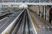 Bordeaux, France: empty Saint Jean railway station during a strike by SNCF railway workers - Sebastien Ortola - 24-04-2018