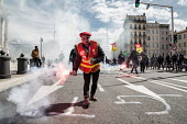 Marseille, France: Railway workers protest against Macron privatisation of National Railways (SNCF) and removal of railway workers statute - Ian HANNING - 13-04-2018