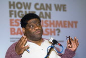 Journalist Gary Younge speaking National People's Assembly conference London - Stefano Cagnoni - 02-06-2018