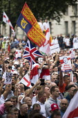 Protest in support of Tommy Robinson, Whitehall, London. The Royal Standard flag - Jess Hurd - 09-06-2018