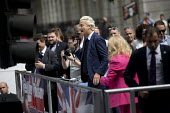 Geert Wilders, Dutch MP and leader of the far right Freedom Party speaking at protest in support of Tommy Robinson, Whitehall, London. - Jess Hurd - 09-06-2018