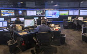 Detroit, Michigan, USA: OnStar Command Center, Global Headquarters of General Motors. Workers monitor and direct the activities of their 3 national call centers in Michigan, North Carolina and Toronto... - Jim West - 07-06-2018
