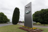 Entrance to Jaguar Land Rover car factory, Solihull, West Midlands - John Harris - 2010s,2018,auto,automotive,Automotive Industry,Car Industry,carindustry,communicating,communication,EBF,Economic,Economy,Entrance,FACTORIES,factory,INDUSTRY,Jaguar,Jaguar Land Rover,JLR,Land,Land Rove