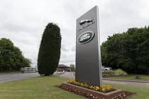 Entrance to Jaguar Land Rover car factory, Solihull, West Midlands - John Harris - 12-06-2018
