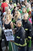 Silent march in memory of the victims of Grenfell Tower fire on the first anniversary, Kensington, London - Jess Hurd - 1st,2010s,2018,activist,activists,adult,adults,anniversary,CAMPAIGNING,CAMPAIGNS,COMMEMORATE,commemorating,commemoration,COMMEMORATIONS,commemorative,DEMONSTRATING,demonstration,FBU,fire,fire brigade,