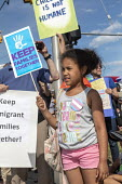 Detroit, Michigan USA: Protest against the separation of children from their parents at the USA Mexican border, Immigration and Customs Enforcement Detention Center. National protests organised by Fam... - Jim West - 2010s,2018,activist,activists,African American,African Americans,against,America,BAME,BAMEs,black,BME,bmes,border,Border and Immigration Agency,border control,border controls,borders,CAMPAIGN,campaign
