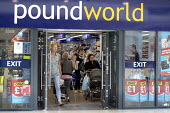 Shoppers at Poundworld which has announced it has gone into administration with 5,100 jobs at risk - John Harris - 2010s,2018,administration,age,ageing population,bag,bags,bankrupt,bankruptcy,bought,Business,buying,cities,City,CLOSED,closing,closure,closures,commodities,commodity,consumer,consumers,Coventry,custom