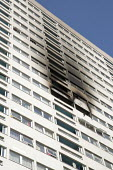 Grafton House where a twelfth floor fire is contained and brought under control by over 50 firefighters at a 22 story East End Homes tower block in Mile End, East London - Jess Hurd - 2010s,2018,22 story,accident,accidental,accidents,block,blocks,building,buildings,cities,City,damage,damaged,destroyed,destruction,DIA,Disaster,disasters,East,East End Homes,fire,fire brigade,fire is,