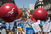 NHS 70th Anniversary protest - free, for all, forever, London - Jess Hurd - People's Assembly Against Austerity,2010s,2018,70th,activist,activists,Anniversary,Anti privatisation,Anti privatisation,anti privatization,Austerity Cuts,balloon,balloons,campaign,campaigning,CAMPAIG