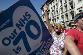 NHS 70th Anniversary protest - free, for all, forever, London - Jess Hurd - People's Assembly Against Austerity,2010s,2018,70th,activist,activists,Anniversary,Anti privatisation,Anti privatisation,anti privatization,Austerity Cuts,BAME,BAMEs,Black,BME,bmes,campaign,campaignin