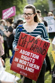Protesting for abortion rights in Northern Ireland, Parliament Square, London - Jess Hurd - 05-06-2018