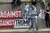 Dave Ward CWU speaking, Together Against Trump protest against the visit to the UK by US President Donald Trump, London - Jess Hurd - 2010s,2018,activist,activists,Against,CAMPAIGNING,CAMPAIGNS,CWU,Dave Ward,DEMONSTRATING,demonstration,Donald Trump,London,marching,member,member members,members,President,Protest,PROTESTER,PROTESTERS,
