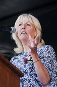 Jennie Formby Labour Party Gen Sec speaking, 2018 Durham Miners Gala - Mark Pinder - 2010s,2018,County Durham,DMA,Durham Miners Gala,Durham Miners' Gala,FEMALE,Jennie Formby,Labour Party,member,member members,members,MINER,Miners,MINER'S,NUM,Party,people,person,persons,SPEAKER,SPEAKER