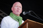 Matt Wrack FBU speaking, 2018 Durham Miners Gala - Mark Pinder - 14-07-2018
