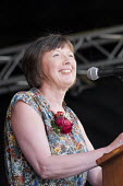 Frances O'Grady TUC speaking, 2018 Durham Miners Gala - Mark Pinder - 2010s,2018,County Durham,DMA,Durham Miners Gala,Durham Miners' Gala,FEMALE,Frances O'Grady,gen sec,member,member members,members,MINER,Miners,MINER'S,NUM,people,person,persons,SPEAKER,SPEAKERS,speakin