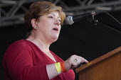 Emily Thornberry MP Labour Party speaking, 2018 Durham Miners Gala - Mark Pinder - 14-07-2018