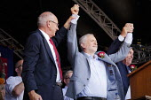 Jeremy Corbyn and Alan Cummings DMA Durham Miners Gala, 2018 - Mark Pinder - 2010s,2018,County Durham,DMA,Durham Miners Gala,Durham Miners' Gala,Jeremy Corbyn,Labour Party,member,member members,members,MINER,Miners,MINER'S,MP,MPs,NUM,politician,politicians,SPEAKER,SPEAKERS,spe